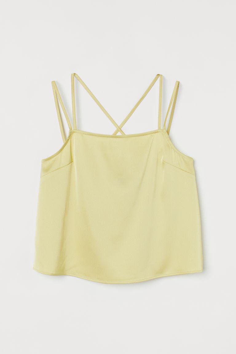 H & M - 寬鬆上衣 - 黃色