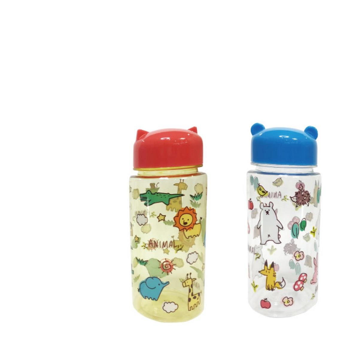 開心動物園-立體耳朵水瓶350ml(商品款式隨機出貨)