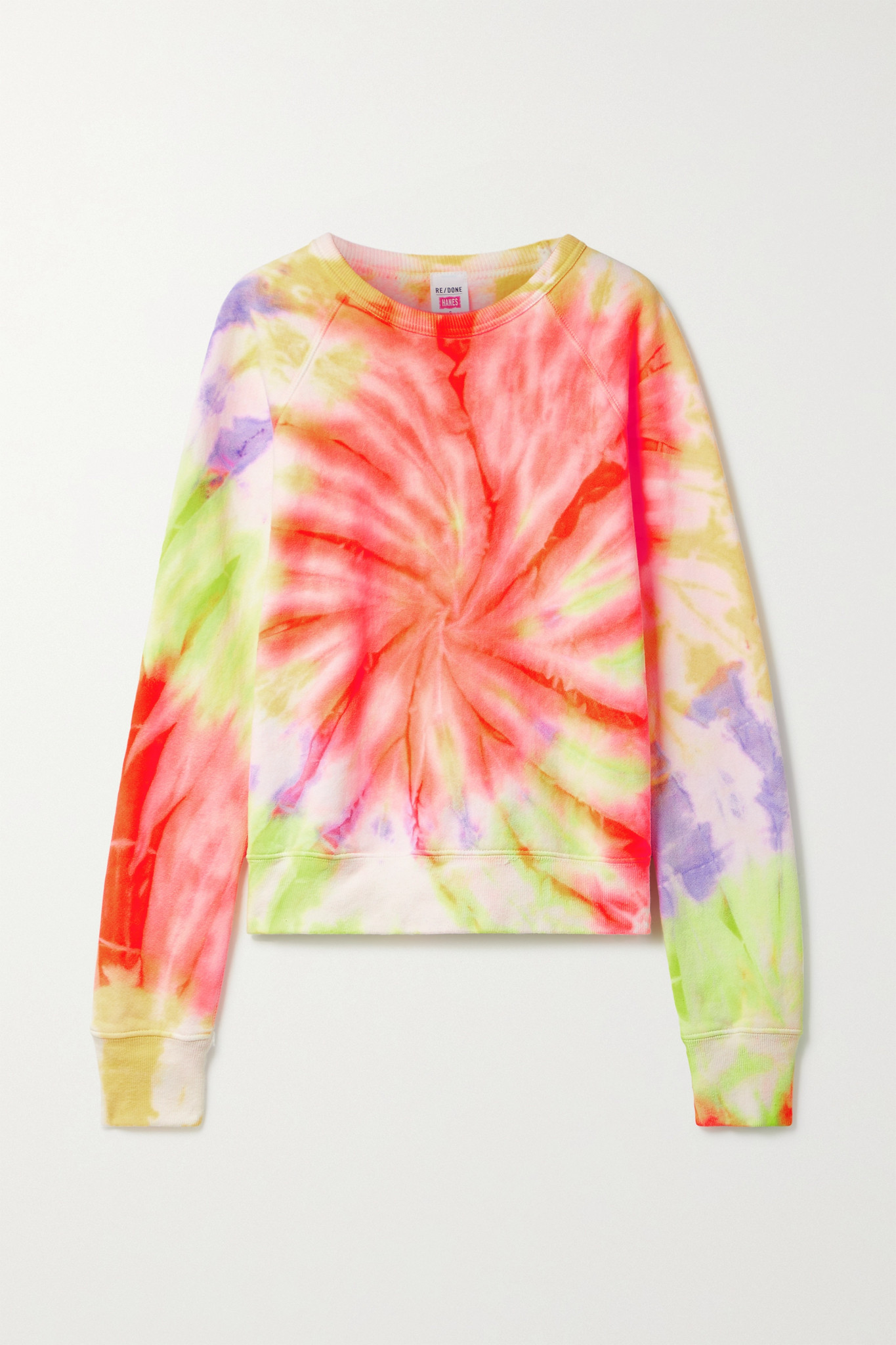 RE/DONE - Tie-dyed Cotton-jersey Sweatshirt - Yellow - medium
