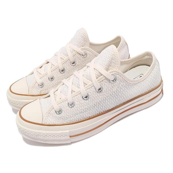 Converse 帆布鞋 Chuck 70 Low 米白 咖啡 1970 三星標 男女鞋 網布【ACS】 170848C