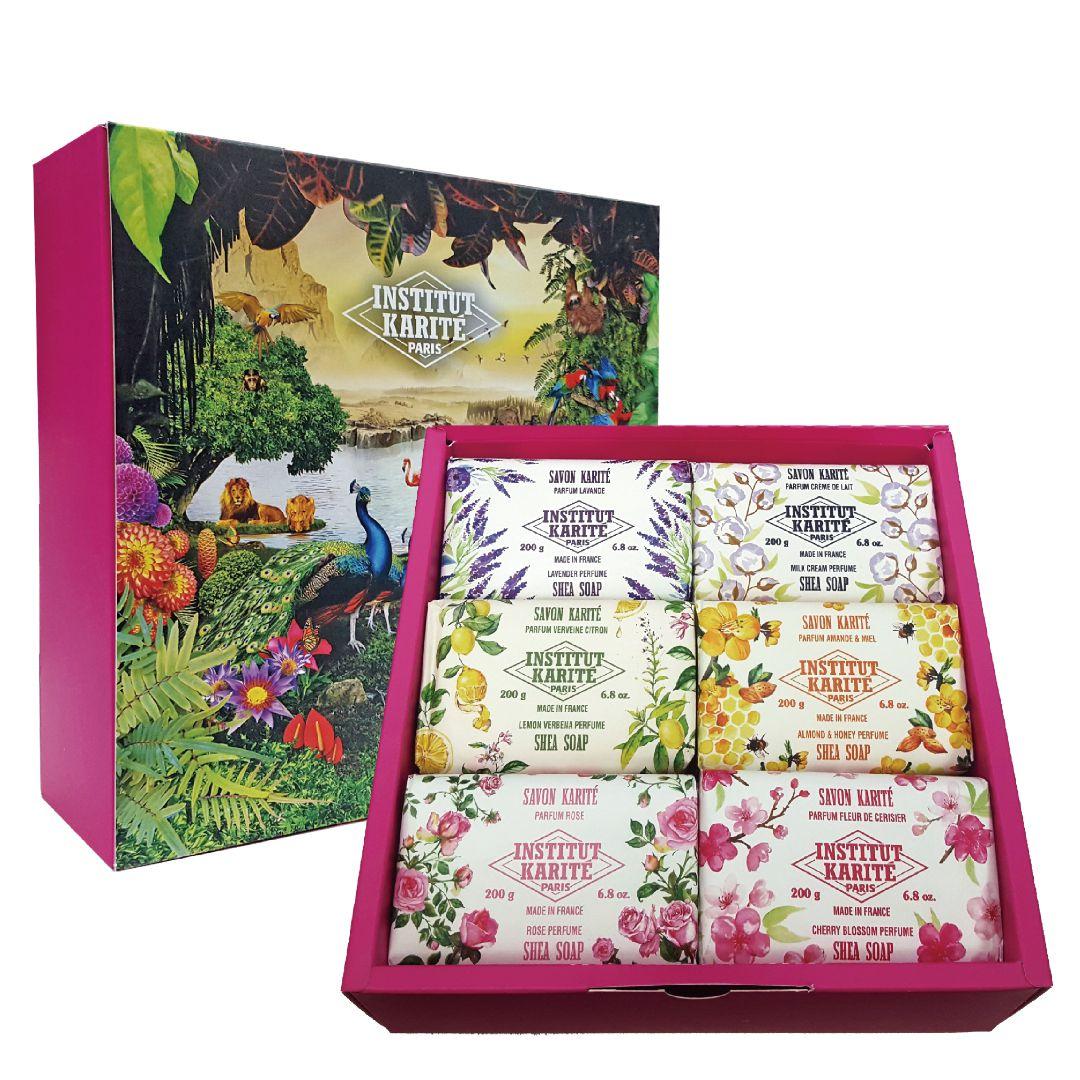 GISH Beauty 巴黎乳油木香氛手工皂 200g 六入禮盒組 _廠商直送