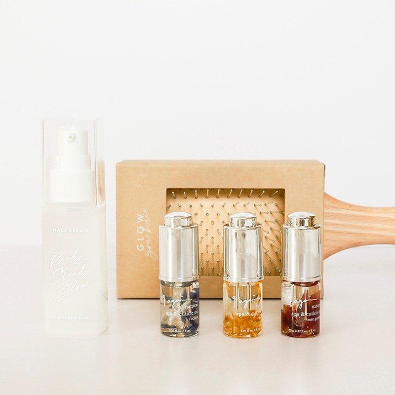 經典療癒組 - 護髮精華/氣墊梳/小花瓶