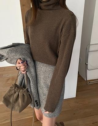 韓國空運 - sale) Jericho High Neck Knitwear 針織衫