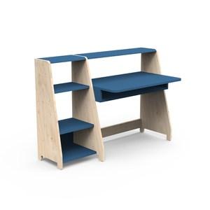 比利時 Mathy by Bols 蒙特利梭兒童 90cm 書桌單書架組-亞特蘭提藍