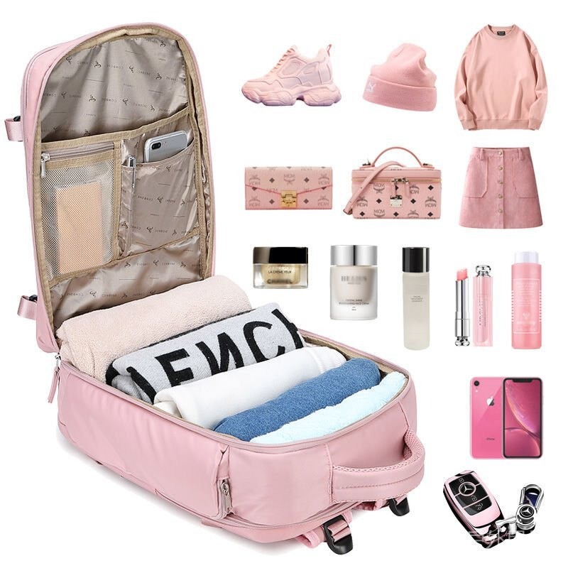 背包女大容量旅遊雙肩包2021新款旅行外出學生書包電腦媽咪行李包