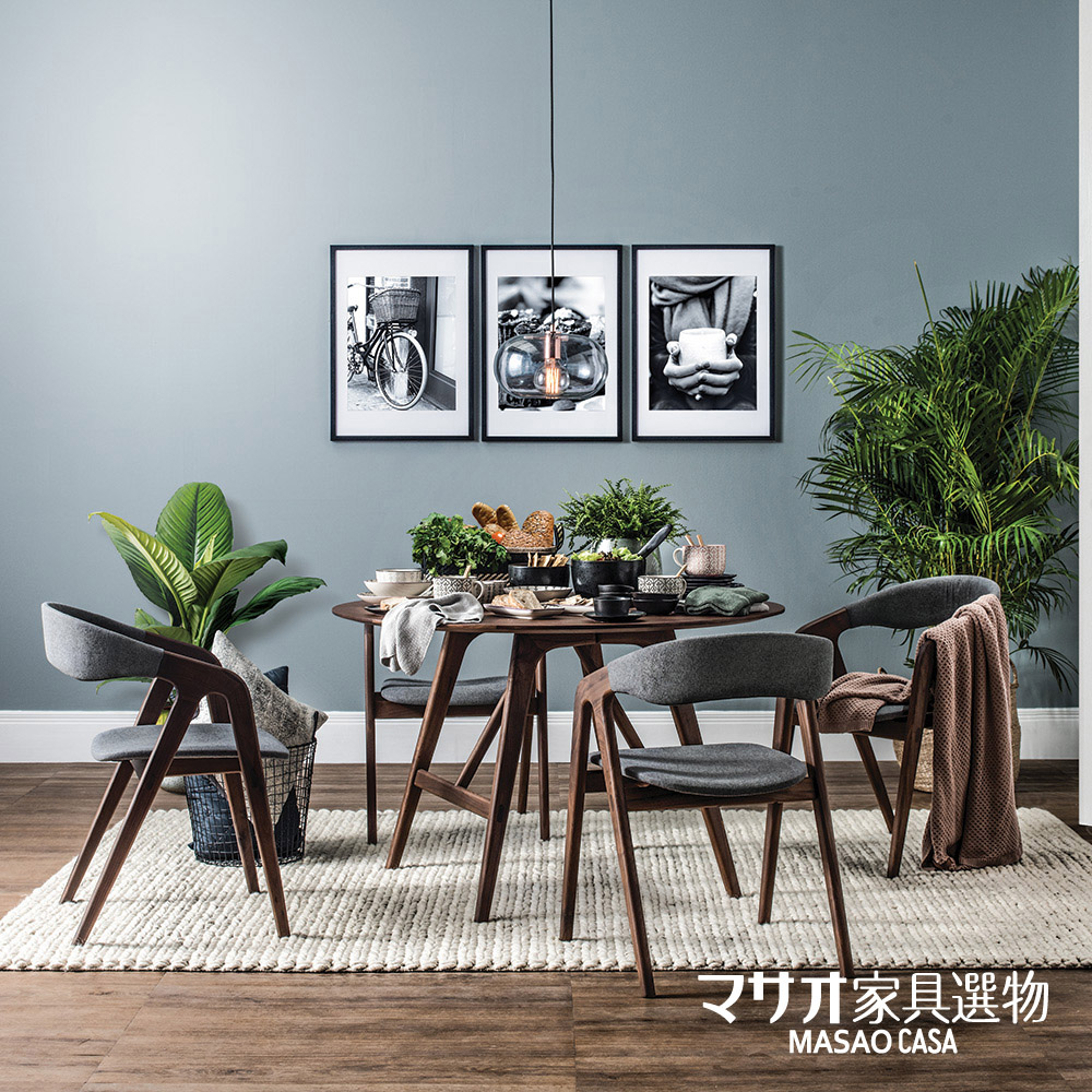 *葵咪日式風胡桃木餐桌