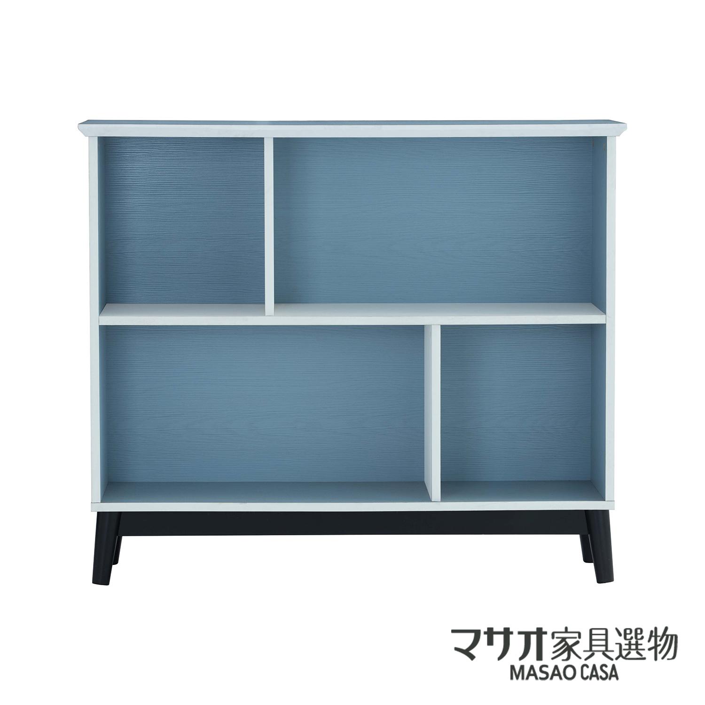*豪威爾收納矮櫃-藍色