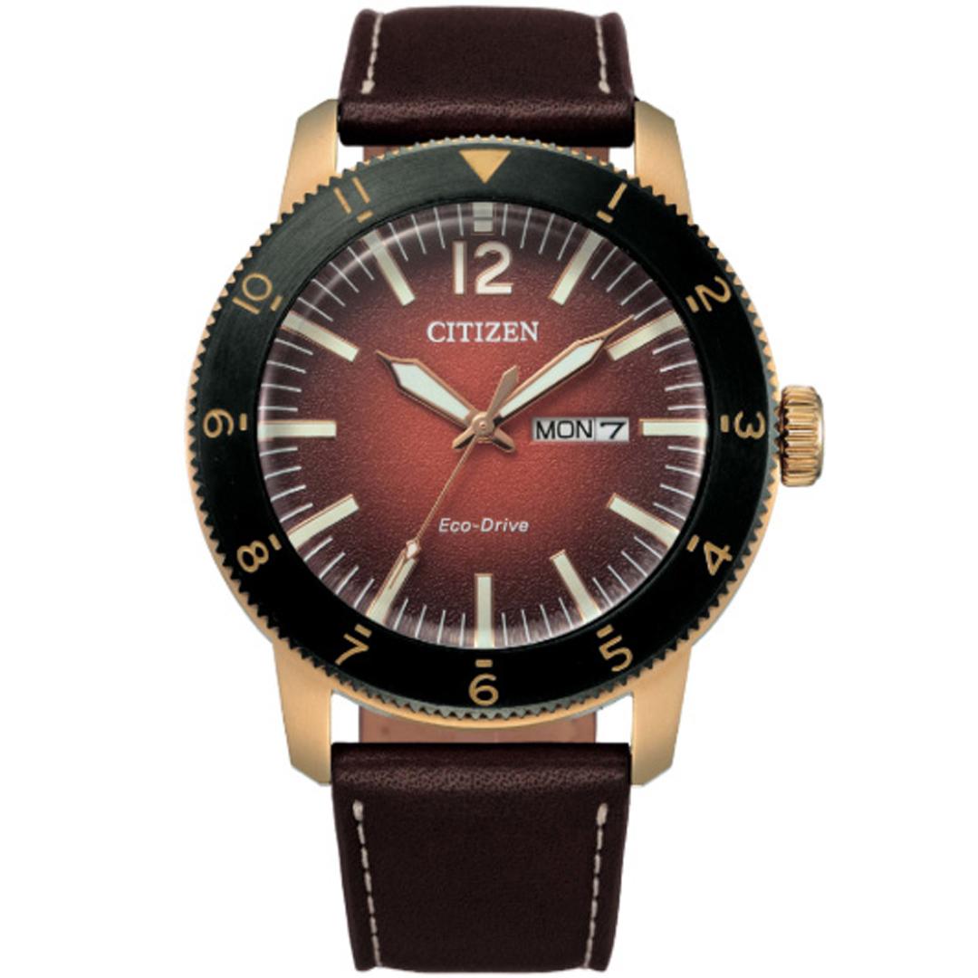 【520甜蜜告白  限時66折!】CITIZEN 海洋碟影光動能腕錶/紅 AW0079-13X 不鏽鋼錶殼 皮革錶帶 日期顯示 強化玻璃鏡面 Eco-Drive 星辰 公司貨保固 熱賣中!