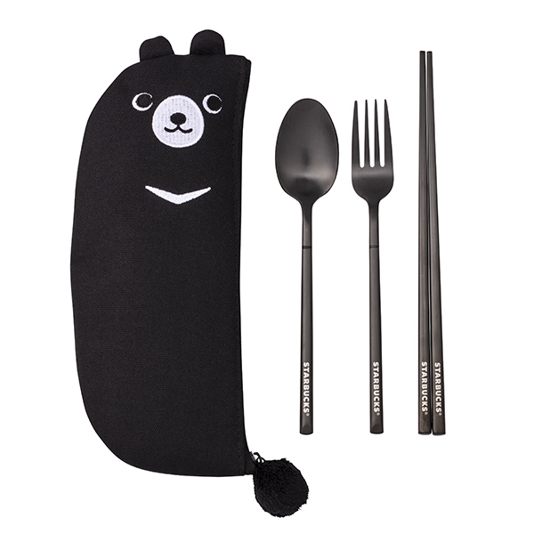 星巴克酷黑熊隨行餐具組