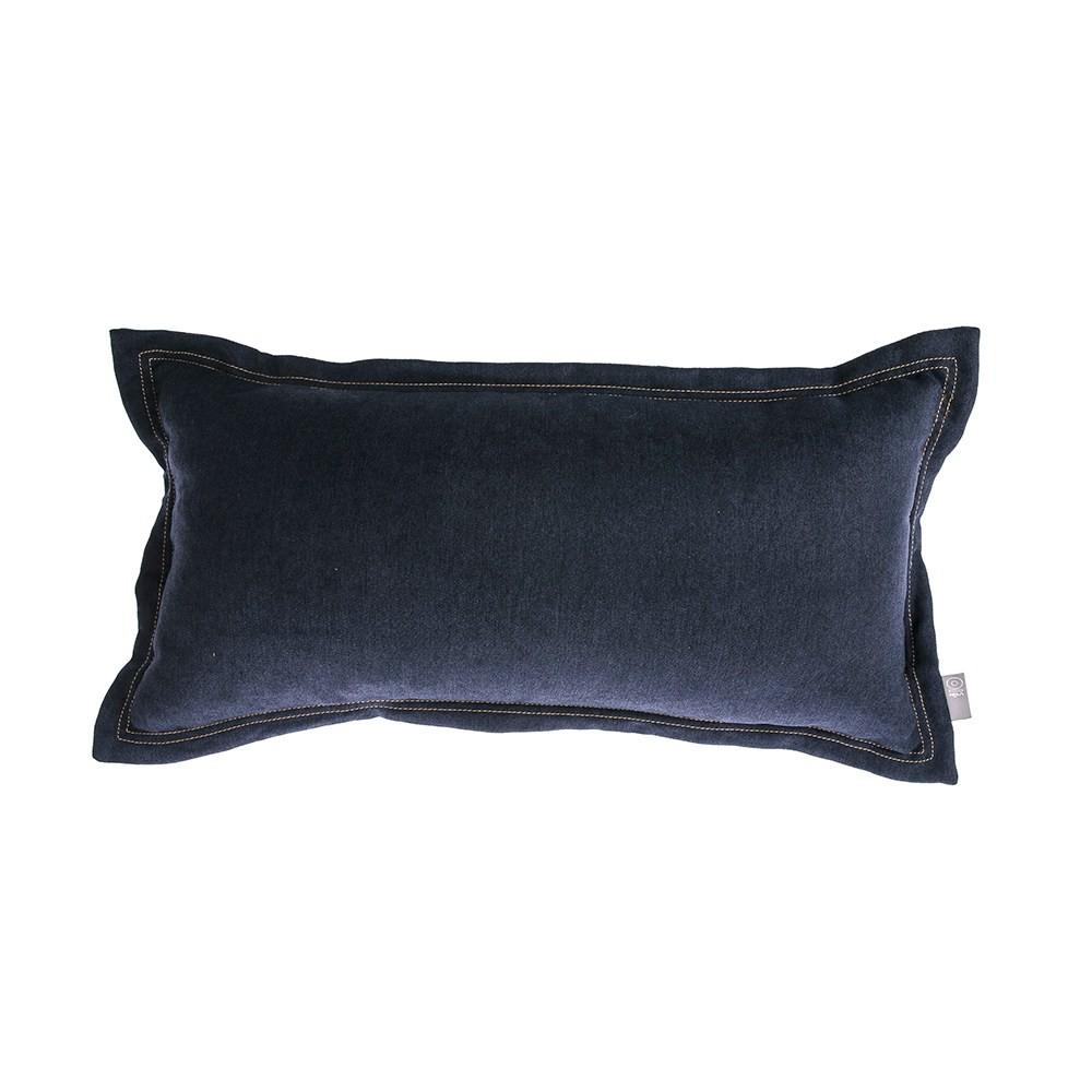 HOLA 素色雅沐仿棉抱枕30x60cm-軍藍