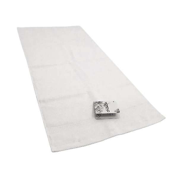 MORINO有機棉歐色緞條毛巾-白