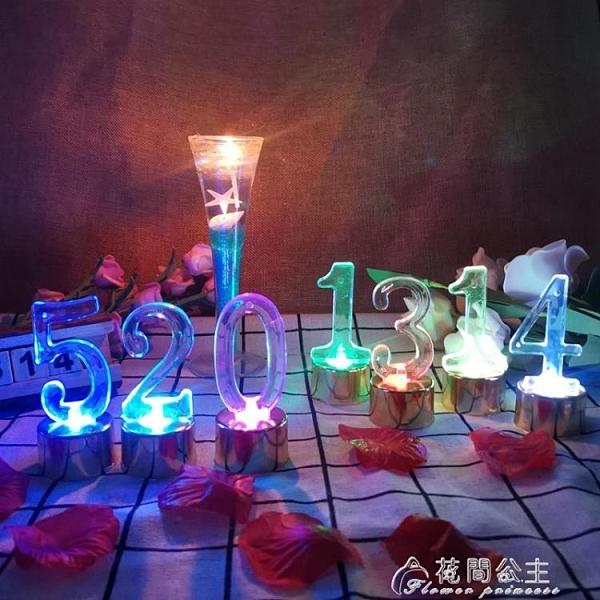 LED蠟燭燈-數字電子蠟燭LED電子燈 七彩燈 燭光晚餐浪漫生日求婚道具 花間公主快速出貨