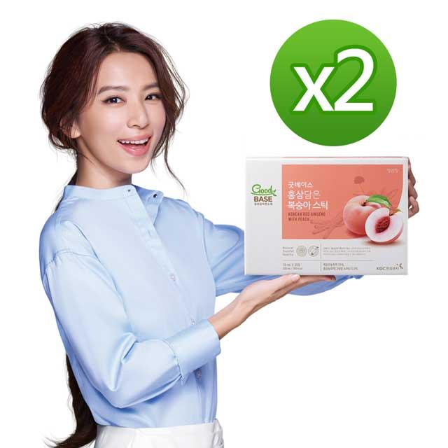《正官庄》高麗蔘蜜桃飲 Stick(10mL*30包)X2盒+提袋X2