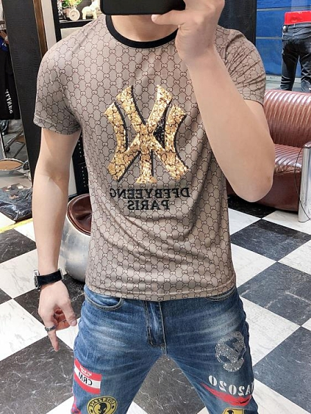 24歐洲站夏季印花短袖T恤男網紅潮牌韓版潮流2021新款男士T