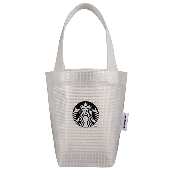 星巴克透白格網女神隨行杯袋