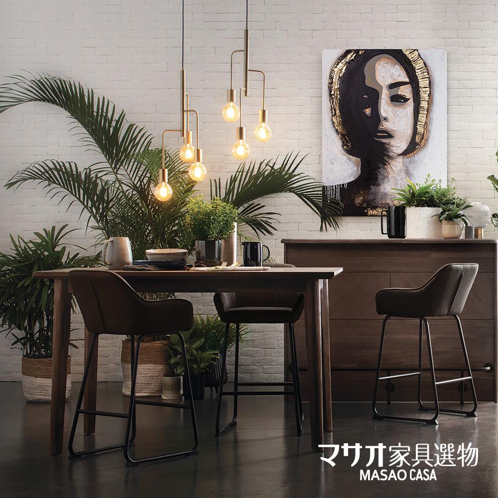 【預購】*特洛伊現代風皮革吧檯椅