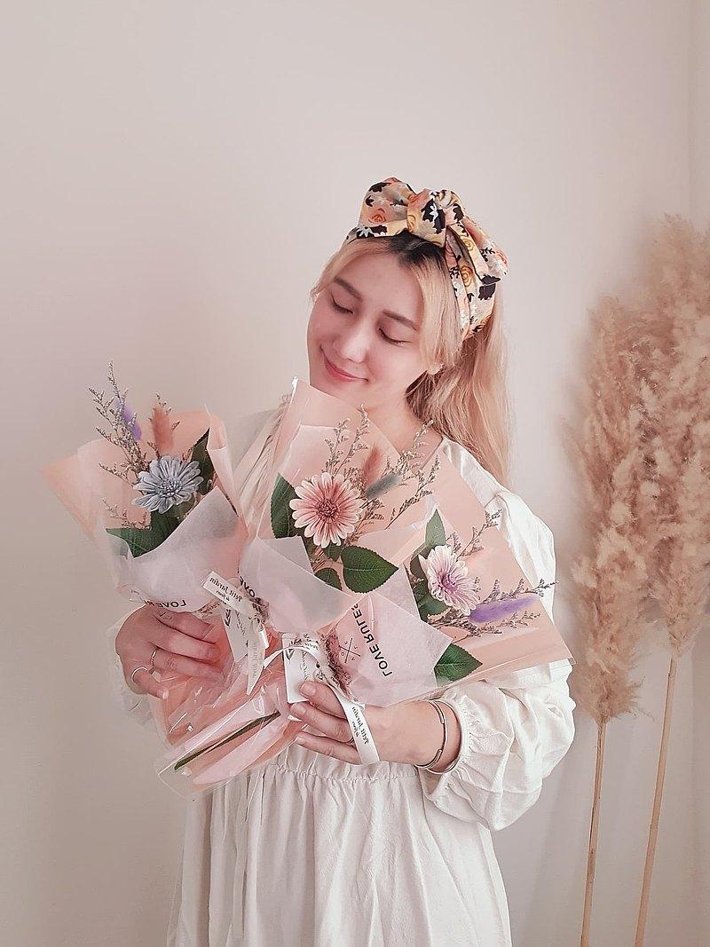 PJ小花園* | 充滿希望非洲雛菊香氛乾燥花束 | 畢業花束 付提袋