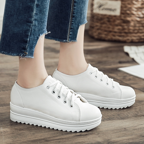 饅頭鞋.MIT休閒學院風綁帶厚底圓頭帆布包鞋.白鳥麗子