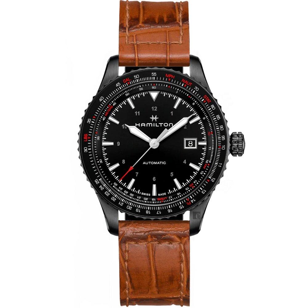 Hamilton 漢米爾頓 卡其航空機械錶-42mm(H76625530)