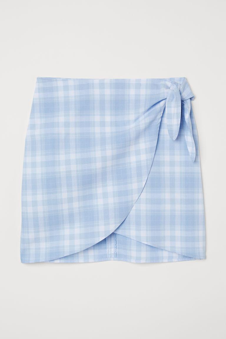 H & M - 結飾短裙 - 藍色