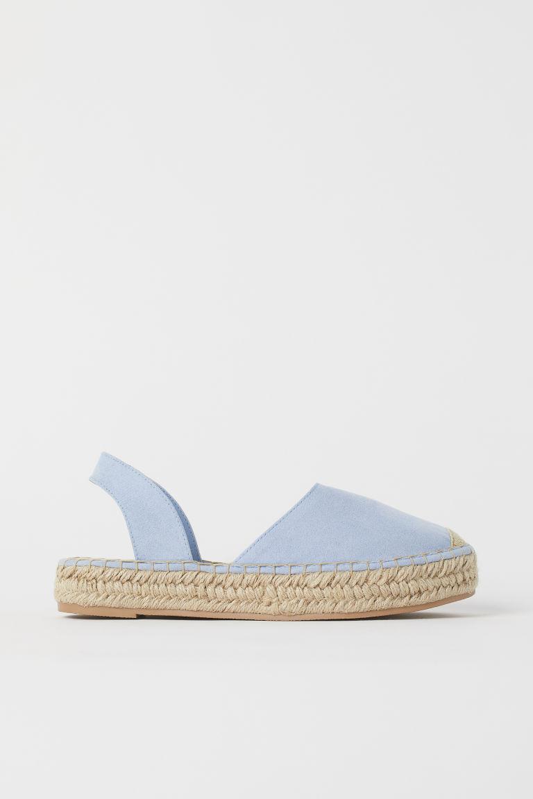 H & M - 露跟草編鞋 - 藍色