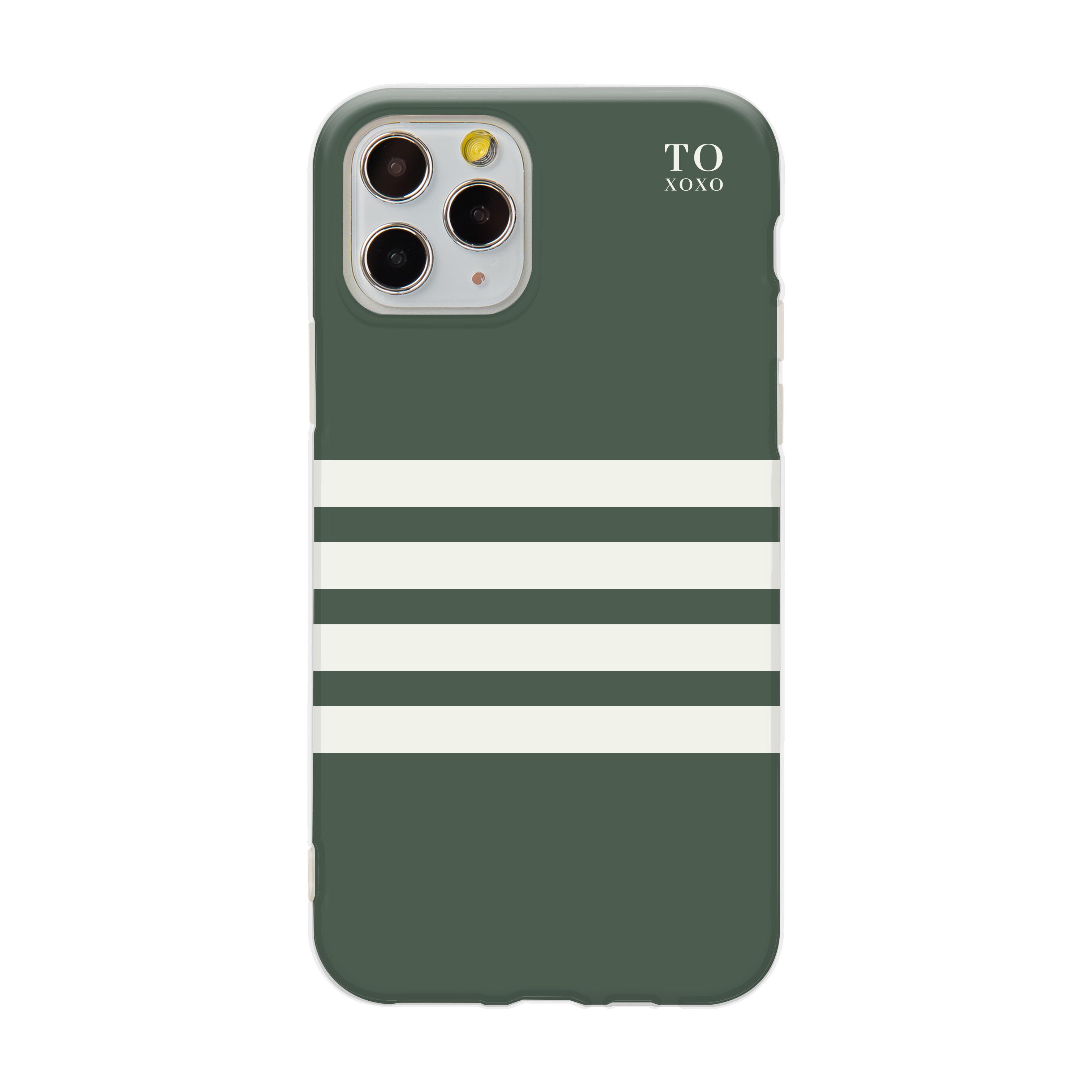 【 TOXOXO 】Ultra Pro系列 ❘ 綠白條紋iPhone防摔手機殼