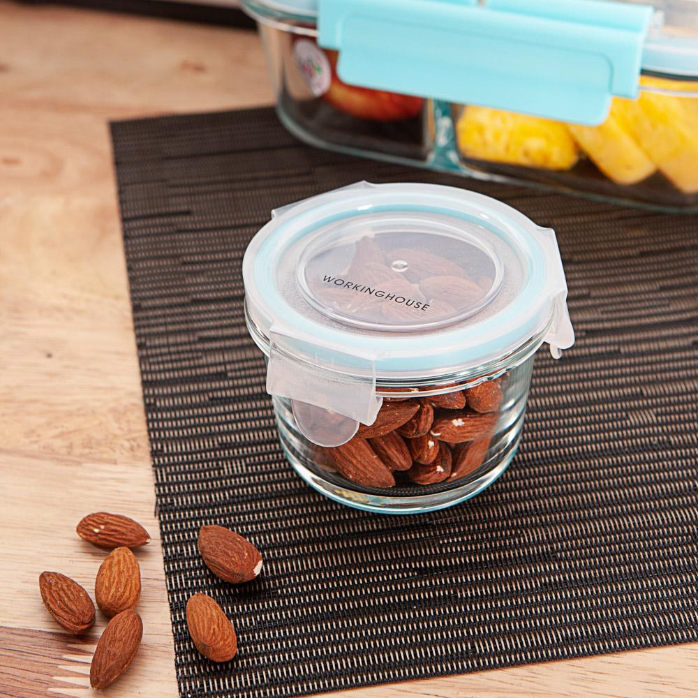 食在迷你圓形耐熱玻璃保鮮盒150ml