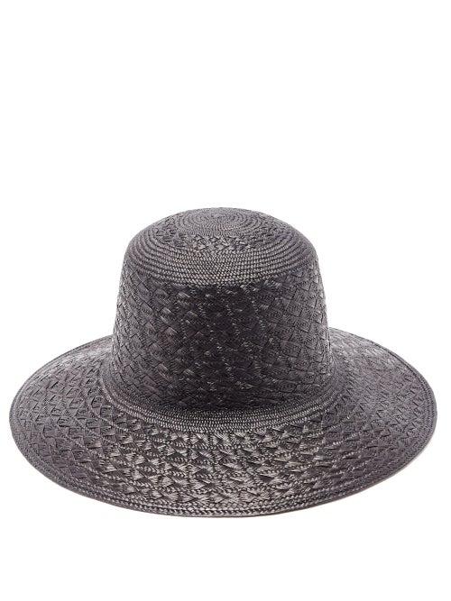 Saint Laurent - Maui Straw Panama Hat - Mens - Black