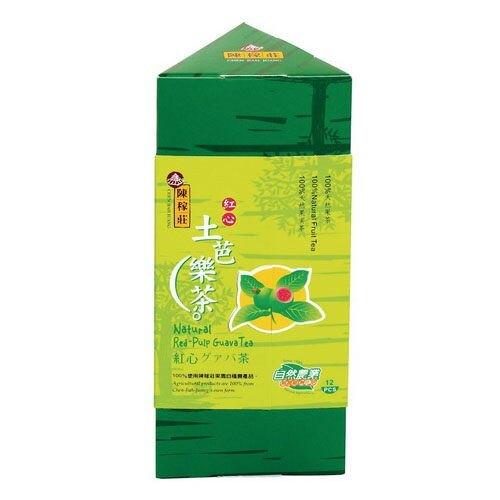(即期品) 陳稼莊 紅心土芭樂茶(三角盒) 5gx12包/盒 效期至2021.09.27