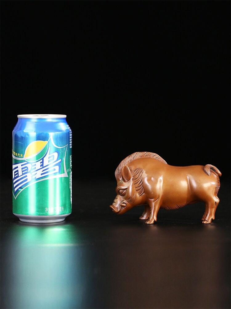 匠澤銅魂 紫銅豪豬野豬擺件十二生肖豬銅雕工藝品客廳裝飾品