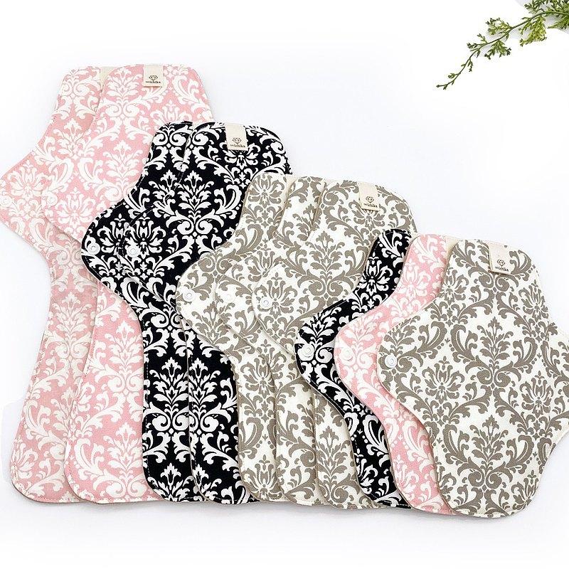 衛生巾餐巾10件套使用有機棉的可愛衛生巾餐巾月經痛錦緞