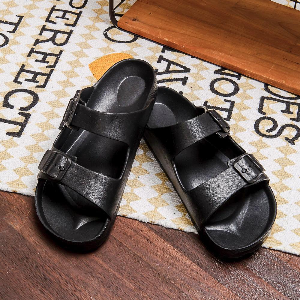 EVA室外休閒鞋-極致黑(27)