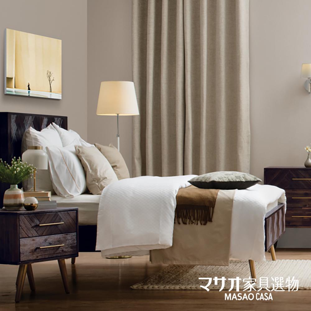 *西凡日式風相思木雙人床