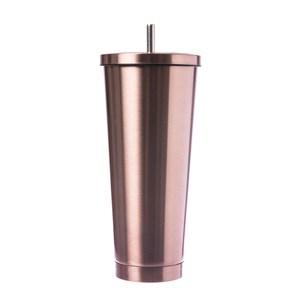 AWANA吸管咖啡杯700ml 玫瑰金