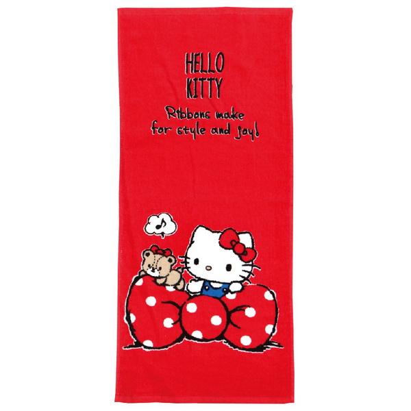 凱蒂貓愛蝴蝶結毛巾