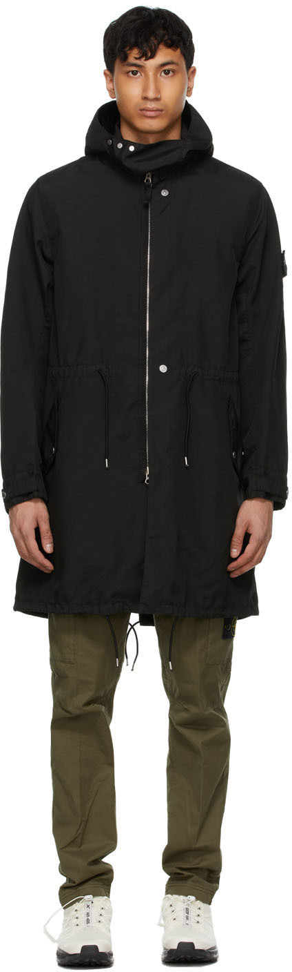 Stone Island Shadow Project 黑色 Hollowcore Poly Light 派克大衣