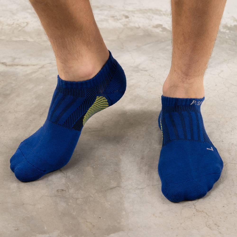 貝柔足弓加壓護足氣墊船襪(男)-寶藍(1雙)