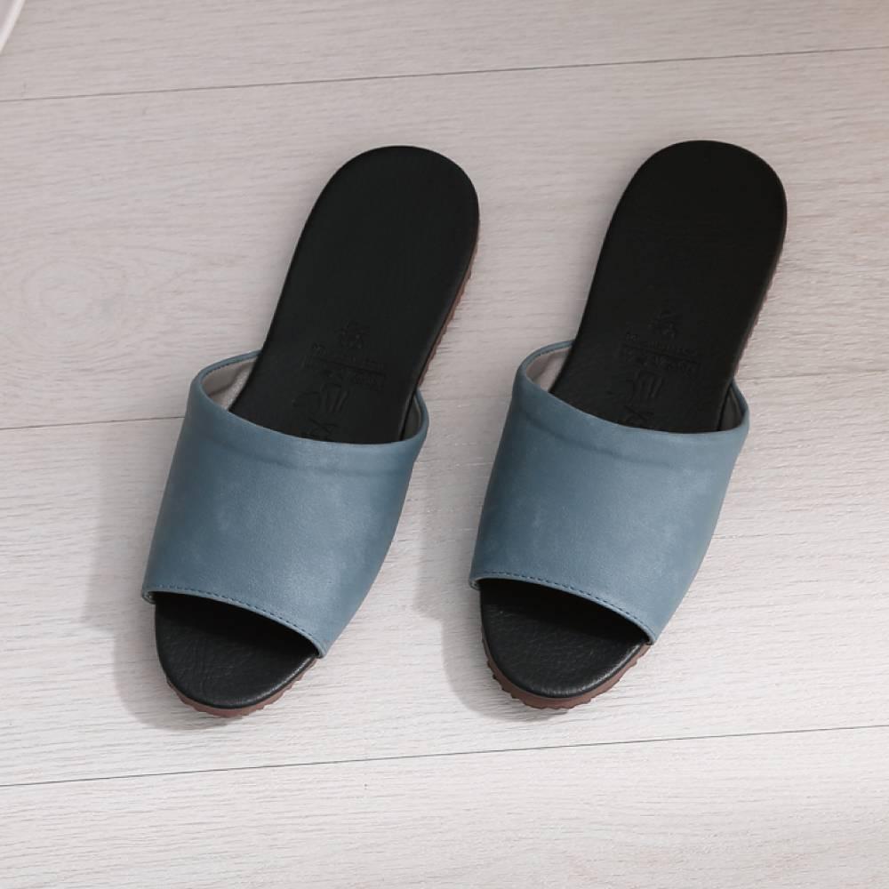 06020經典室內皮拖鞋-藍26