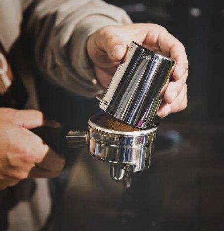 Minos 54mm 磨豆機接粉杯 EK-200磨豆機 義式把手專用 咖啡粉杯 銀色 Minos-EK-54mm-ARG