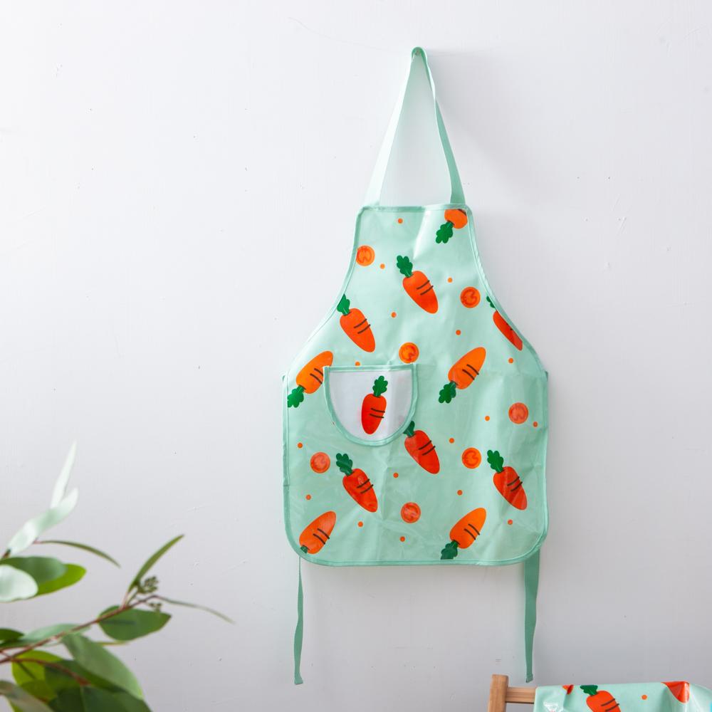 胡蘿蔔樂園兒童防水圍裙