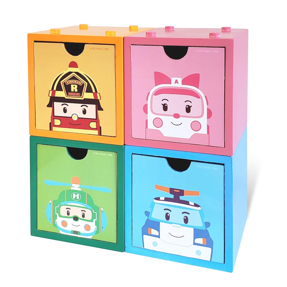 *救援小英雄積木收納盒(4入組)