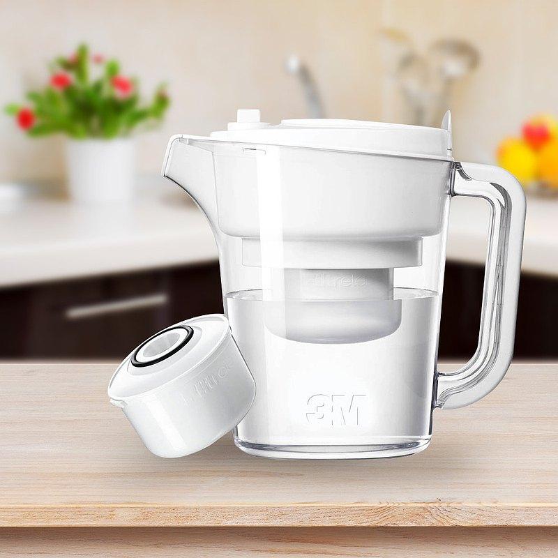 3M 濾水壺一壺一心-白色