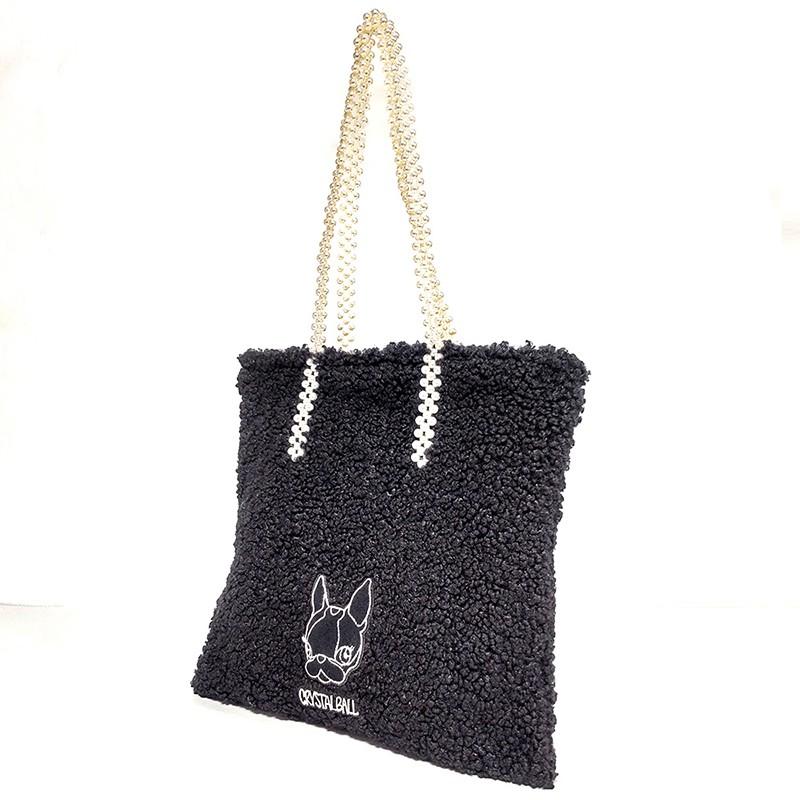 CRYSTAL BALL狗頭包 ( Pearl handle mocomoco bag時尚包 )