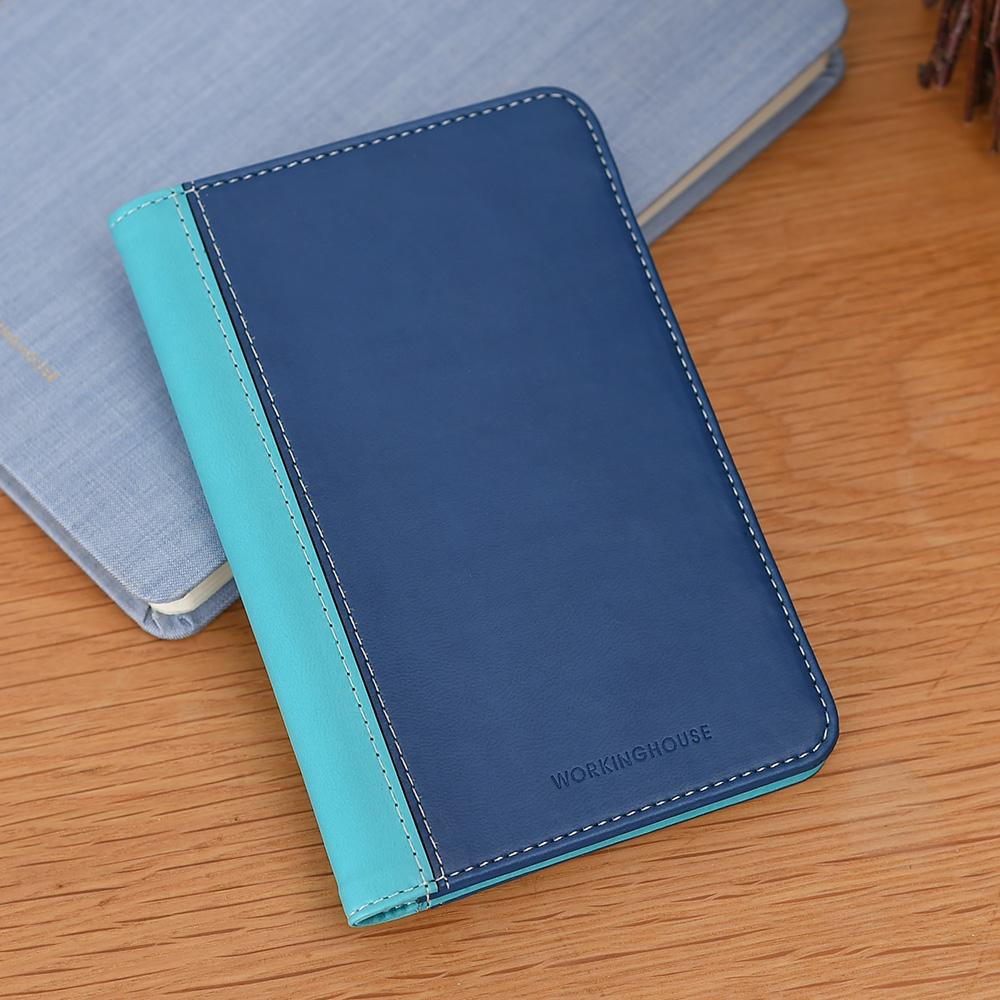 藍蘊皮質護照夾