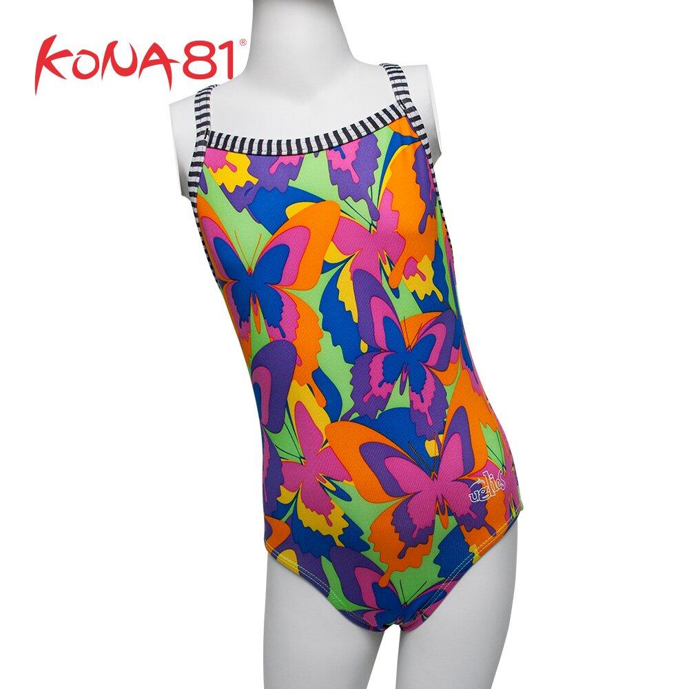 酷吶81 Dolfin繽紛彩蝶造型連身泳裝 絢麗樂活