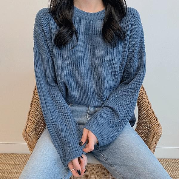 韓國空運 - Gumi Gumi Overfit Hachi Round Knitwear 針織衫