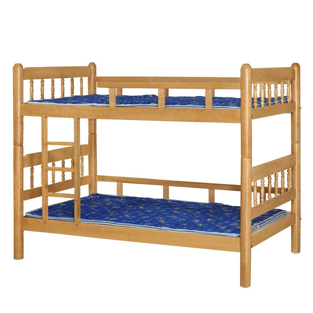 【全館現貨 下殺45折】芮可古典實木3.5尺雙層床(不含床墊)專人組裝 宿舍公寓 上下舖 台灣製 原森道