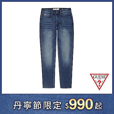GUESS-男裝-經典造型直筒牛仔褲-深藍 原價2990