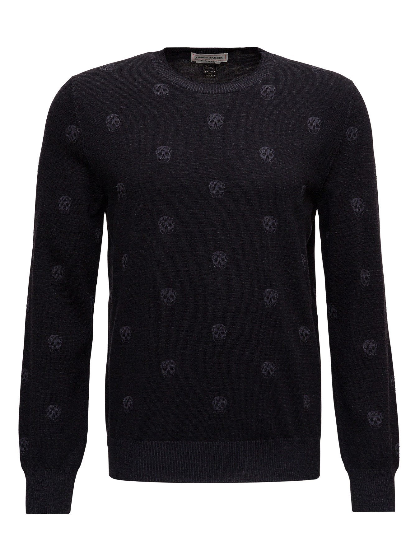 Blac Wool Jumper with Vanise Skull Allover Iytarsia