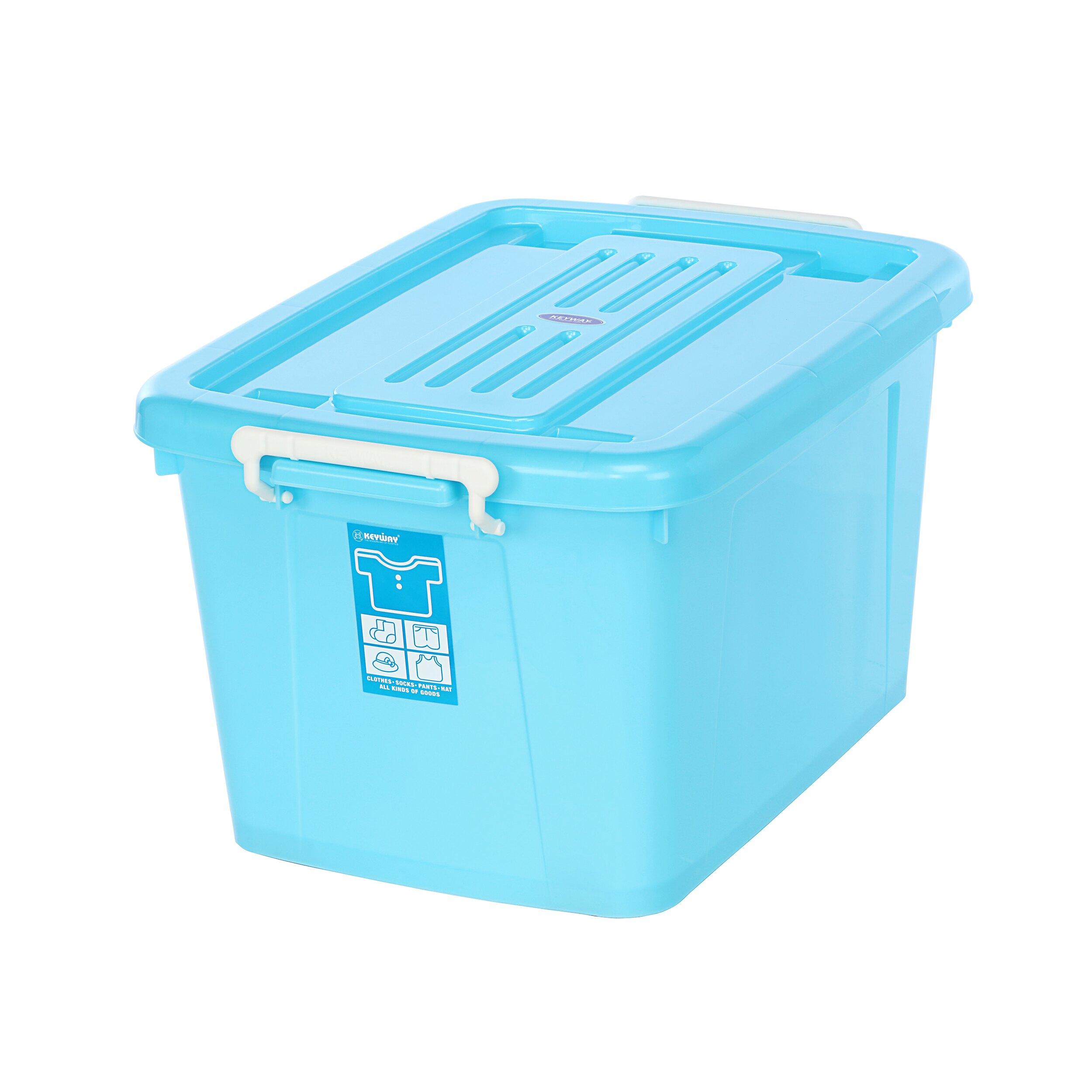換季/衣物收納/滑輪整理箱/玩色高手/MIT台灣製造 銀采滑輪整理箱【藍】  AK600  KEYWAY聯府